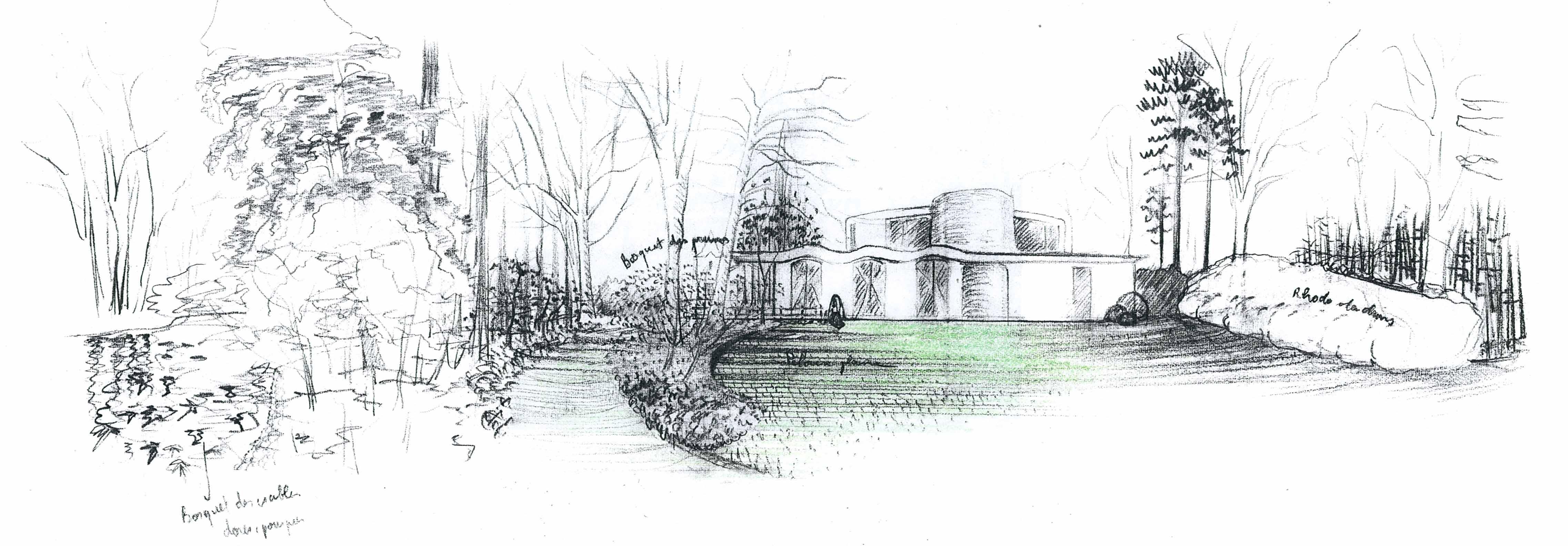 Etudes for Amenagement jardin 500m2